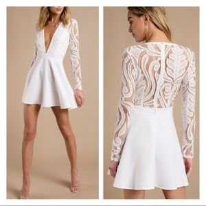 Tobi White All I Want Skater Lace Dress Size Sz L